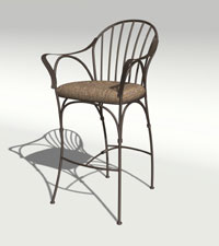rendered chair